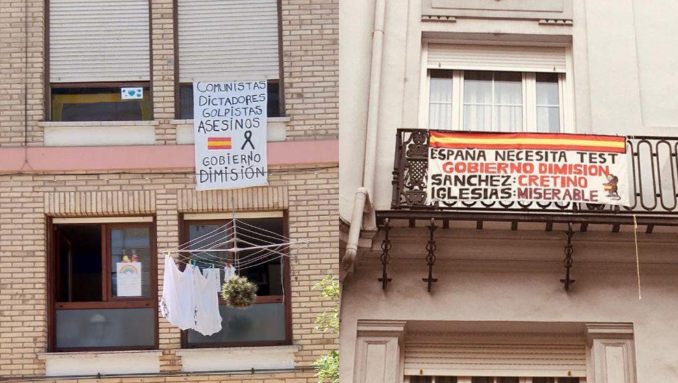 Pancartas vistas en diferentes ciuddes de Cantabria