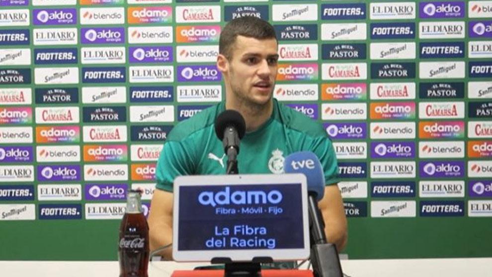 El jugador del Racing Álvaro Mantilla da positivo e Covid