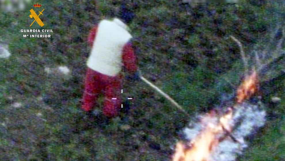 Dos hombres investigados como autores de un incendio forestal en Peñarrubia