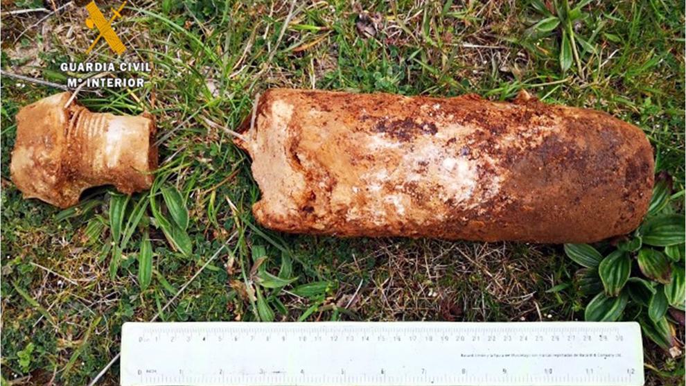 Destruida una bomba de aviación de la Guerra Civil localizada en Campoo de Enmedio