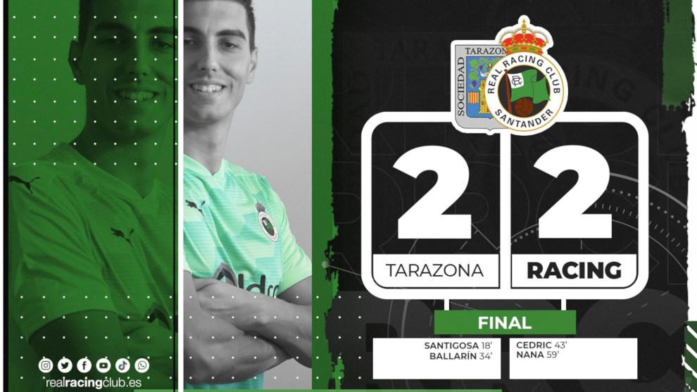 Lucas evita la derrota del Racing ante el Tarazona (2-2)