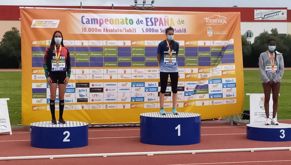 Ania San Román, subcampeona de España de 5.000 metros sub 18