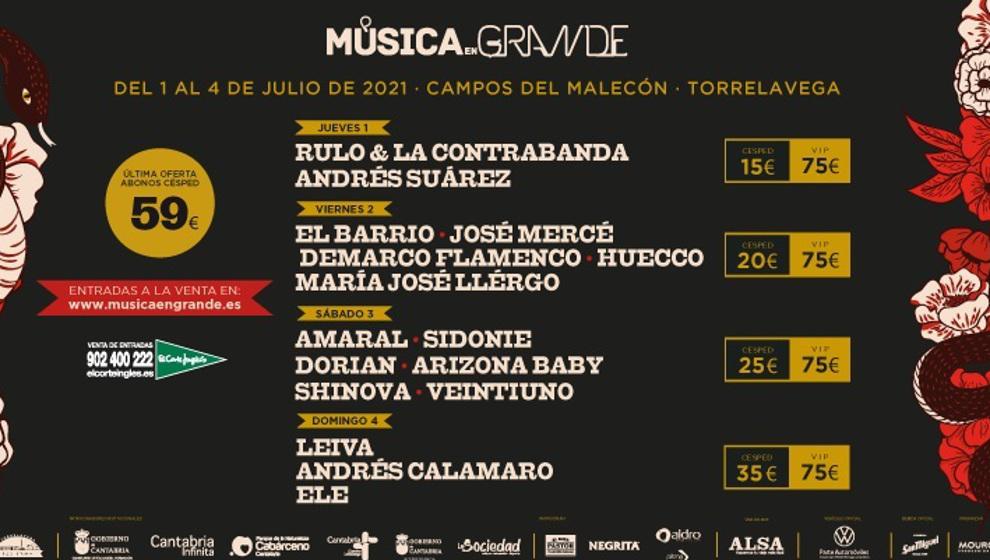 Música en Grande cancela su edición de este año por la pandemia