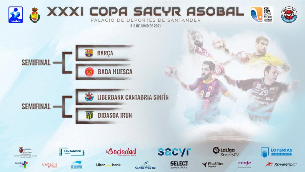 Sinfín - Bidasoa, en las semifinales de Copa ASOBAL