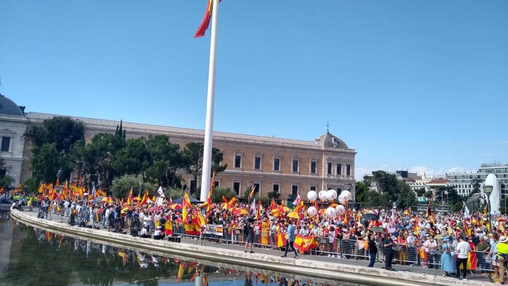 25.000 personas se concentran en la plaza de Colón contra los indultos