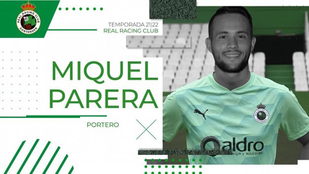 Miquel Parera refuerza la portería del Racing