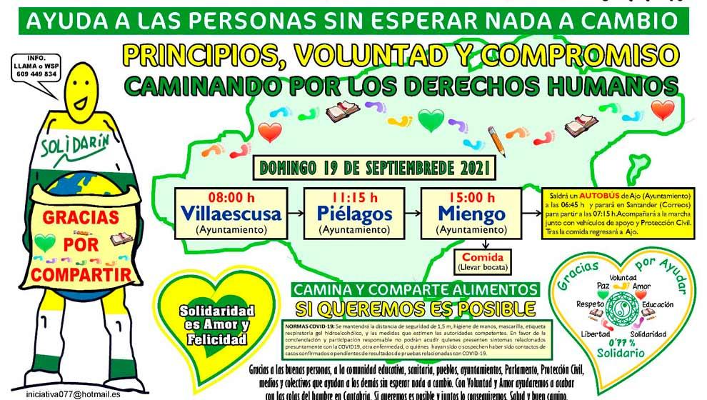 Marcha Solidaria por el 0,77% por los municipios de Villaescusa, Piélagos y Miengo