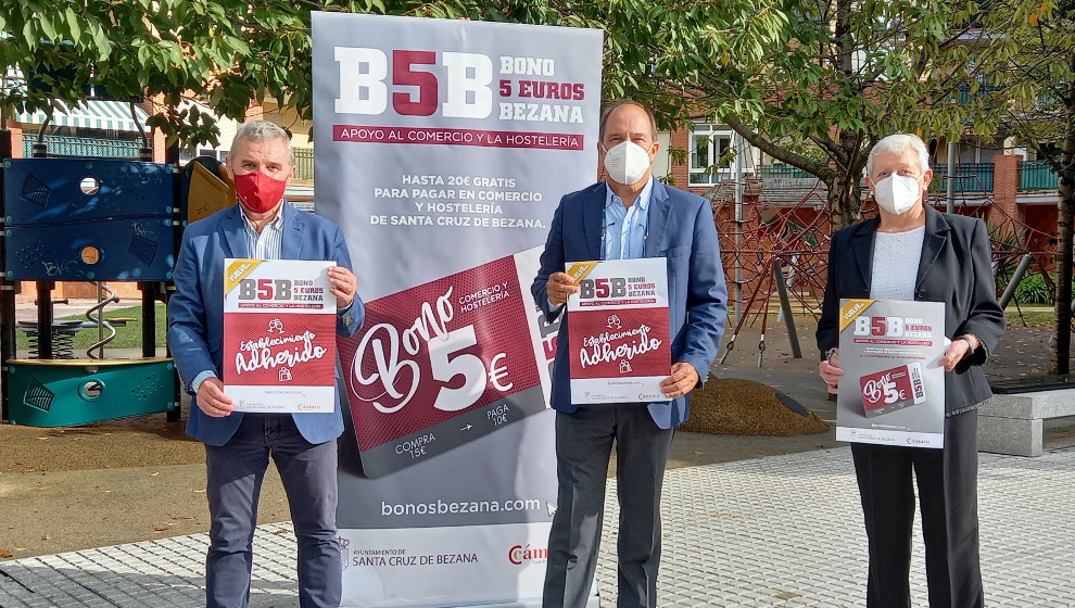 """La campaña """"Bonos 5 euros Bezana"""" de apoyo el comercio y la hostelería local vuelve al municipio"""