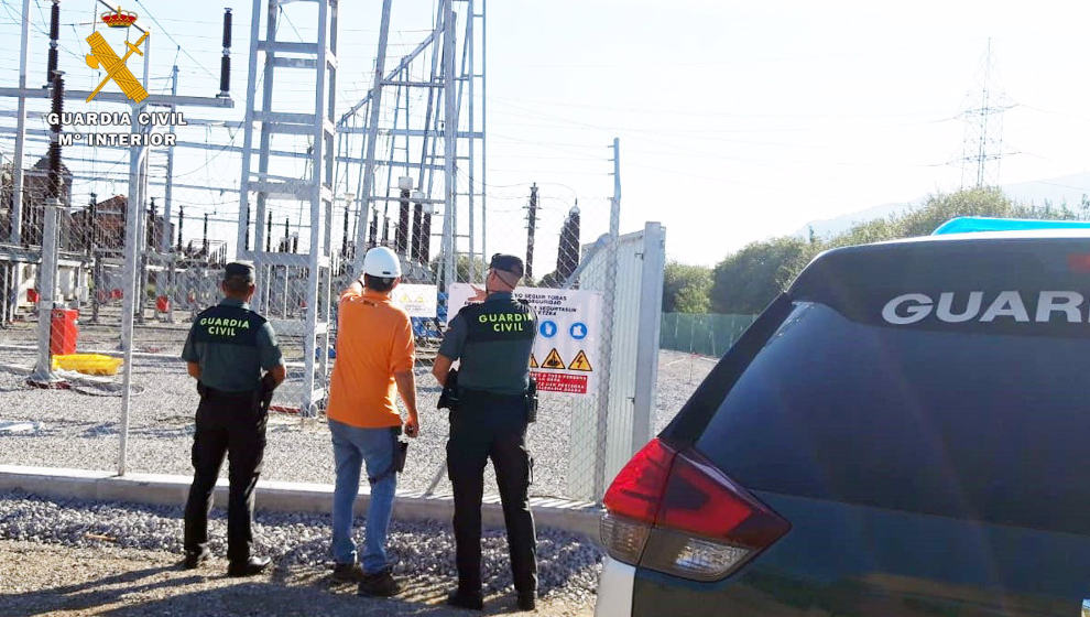 Detenidos un padre y su hijo por robar 50 kilos de cable de cobre y denuncia falsa