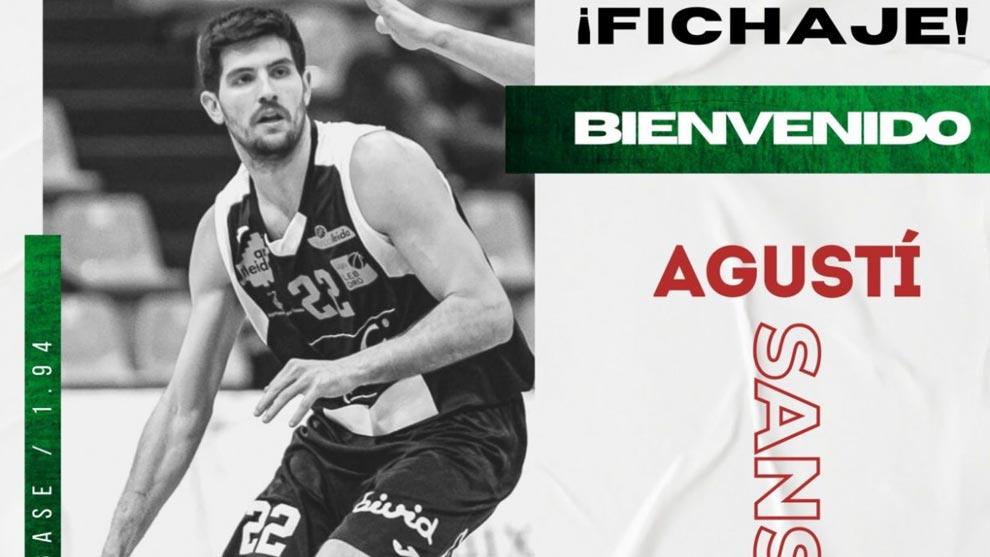 Agustí Sans, experiencia y juventud para Grupo Alega Cantabria CBT